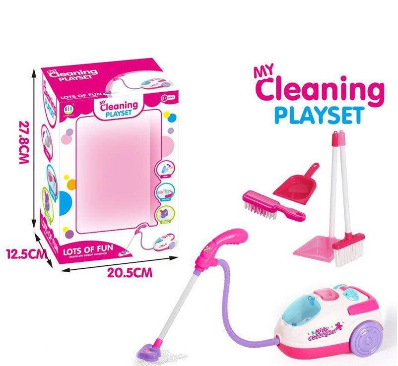 Детский игровой пылесос звуковыми и световыми эффектами.