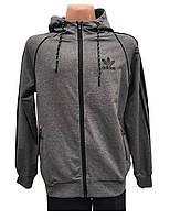 Сірий,літній чоловічий спортивний костюм Adidas.