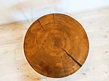 Журнальний круглий столик з натурального дерева Ясний 50 див. Кавовий столик для вітальні. Столик лофт, фото 6