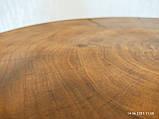 Журнальний круглий столик з натурального дерева Ясний 50 див. Кавовий столик для вітальні. Столик лофт, фото 9
