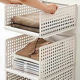 ОПТ Багаторозмірних складаний пластиковий органайзер з ящиками для одягу, багатошаровий стелаж для зберігання, фото 5