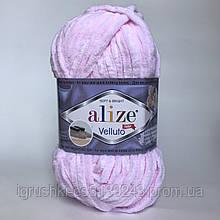Плюшева пряжі Alize Velluto 31 Дитячий рожевий