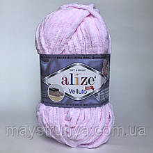 Плюшевая пряжа Alize Velluto 31 Детский розовый