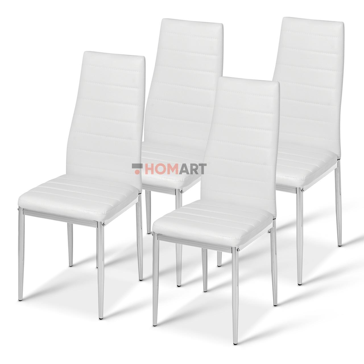 Стільці кухонні набір 4 шт Homart LCM-004WS білий (9381)