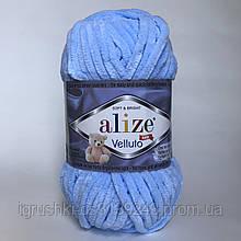 Плюшева пряжі Alize Velluto 218 Дитячий блакитний