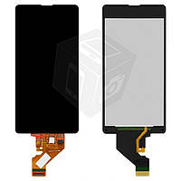 Дисплейный модуль (дисплей + сенсор) для Sony Xperia Z1 Compact Mini D5503, черный, оригинал