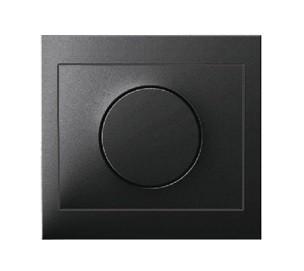 Светорегулятор поворотно-нажимной 600 Вт Berker K.1 антрацит