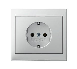 Светорегулятор поворотно-нажимной 600 Вт Berker K.1 антрацит, фото 2