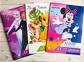 Цветной двухсторонняя бумага А4 12 листов Тетрада для девочек