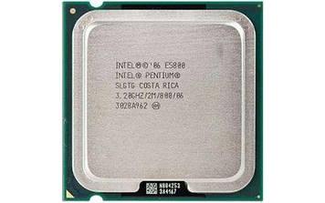 Процессор Intel Pentium E5800 3,20 GHz/ 2Mb Кеш/5 GT/s / s755