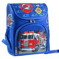Рюкзак шкільний каркасний Пожежна машина TIKI 53251-TK