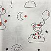Пеленка детская, 80*100 см, (хлопок/фланель), (жирафи на облаках с шариками на белом), фото 3