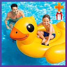 Надувной плот для катания Intex 57286 Уточка 203х112 см + подарок