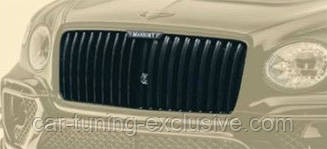 MANSORY carbon lamels grill with illuminated logo for Bentley Bentayga