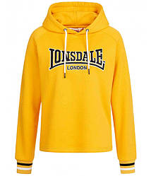 Женская толстовка худи Lonsdale 117101 Candy Yellow желтая