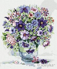 Живопись по номерам Фиолетовое вдохновения худ. Елена Вавилина KHO3128 Идейка 40 х 50 см (без коробки)
