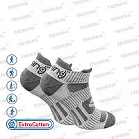 """Шкарпетки трекінгові унісекс літні, модель """"LowLight"""" сірі - 75% бавовна, 20% поліамід, 5% еластан (L /44-47)"""