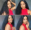 Чорний парик довгий африканські кучеряве волосся