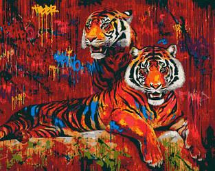 STREET ART. Тигры (40х50) (RB-0056)