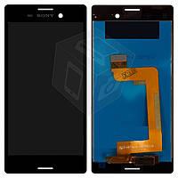 Дисплейный модуль (дисплей + сенсор) для Sony Xperia M4 Aqua, черный, оригинал