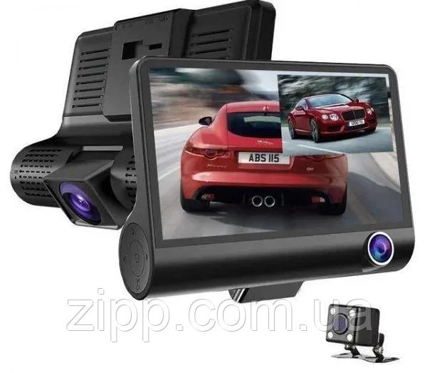 Авторегістратор XH202/319   Автомобільний відеореєстратор з 3 камерами   Відеореєстратор в машину