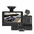 Авторегістратор XH202/319   Автомобільний відеореєстратор з 3 камерами   Відеореєстратор в машину, фото 2