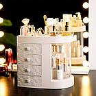 Прозорий органайзер для косметики 4 ящика   Підставка для косметики   Органайзер для косметики настільний, фото 3