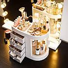 Прозорий органайзер для косметики 4 ящика   Підставка для косметики   Органайзер для косметики настільний, фото 4