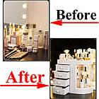 Прозорий органайзер для косметики 4 ящика   Підставка для косметики   Органайзер для косметики настільний, фото 9