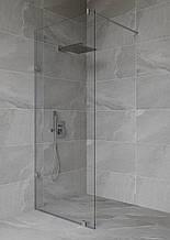 Скляна душова перегородка 2000*400мм, прозора, зі штангою