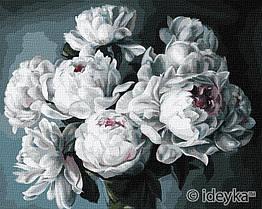 Картина по номерам Белоснежные пионы худ. Диана Тучс KHO3130 Идейка 40 х 50 см (без коробки)