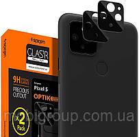 Защитное стекло Spigen для камеры Pixel 5 - Optik camera lens (2шт), Black (AGL02175)