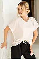 Блуза Дуэт MModa нежно розовая 52