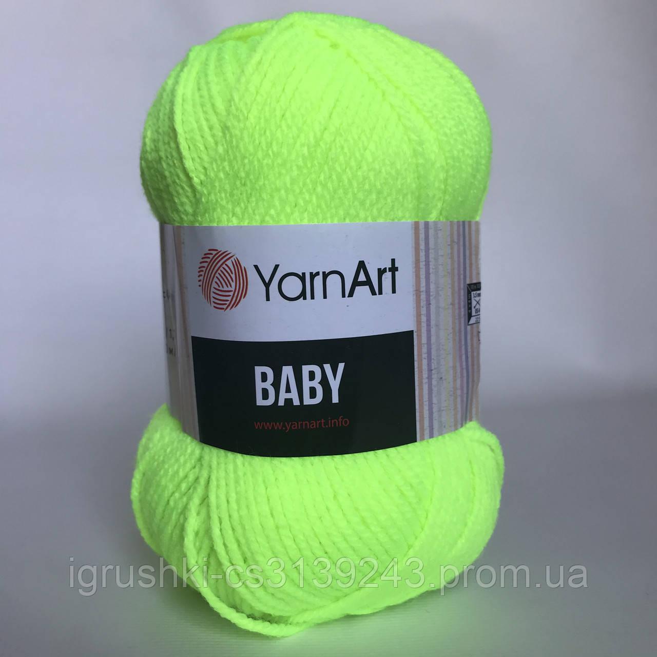 Акрил YarnArt Baby (бебі) 8232 Лайм