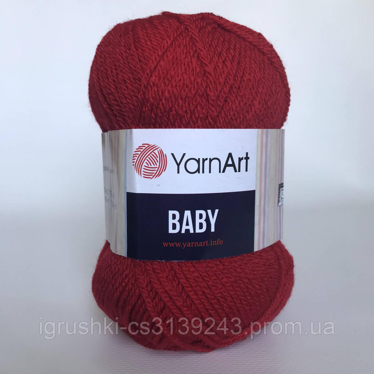 Акрил YarnArt Baby (бебі) 576 Червоний