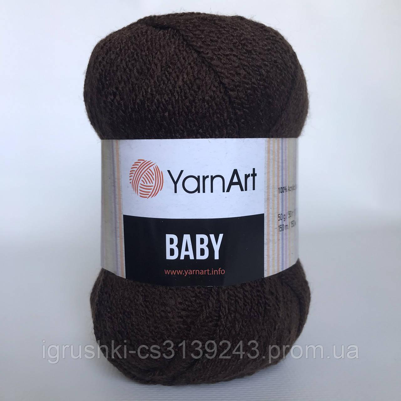 Акрил YarnArt Baby (бебі) 1182 Коричневий