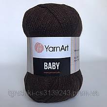Акрил YarnArt Baby (беби) 1182 Коричневый