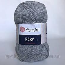 Акрил YarnArt Baby (беби) 195 Серый