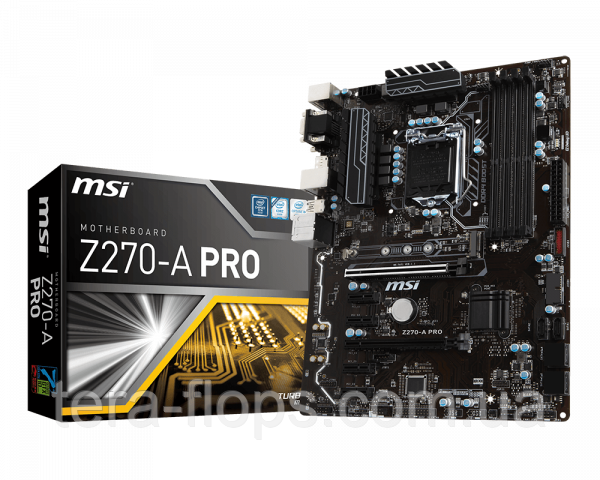 Комплект на 7 видеокарт , Плата Z270 MSI + Pentium + DDR4 4GB