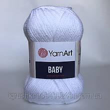 Акрил YarnArt Baby (беби) 501 Белый