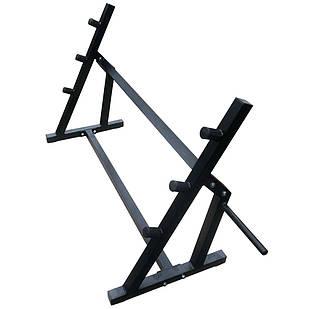 Напольная стойка подставка для блинов, грифов и штанг 80х60 см
