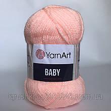 Акрил YarnArt Baby (беби) 204 Персик