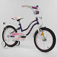 """Детский 2-х колёсный велосипед 16"""" дюймов """"CORSO"""" Фиолетовый."""