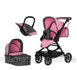 Игрушечная коляска Трансформер 9636 PINK с сумкой 3 в 1 Розовая