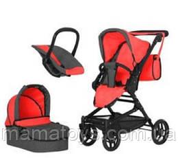 Игрушечная коляска Трансформер 9636 RED с сумкой 3 в 1 Красная
