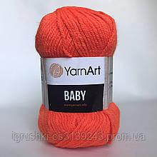Акрил YarnArt Baby (беби) 8279 Оранжевый