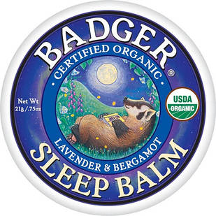 Badger Organic Sleep Balm лаванда, бергамот, розмарин, імбир заспокійливий бальзам для хорошого сну 21 гр