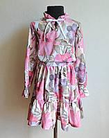 Детское нарядное платье для девочки 7-14 лет весеннее