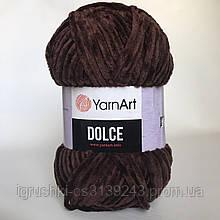 Плюшева пряжа YarnArt Dolce 775 (ЯрнАрт Дольче) Шоколад