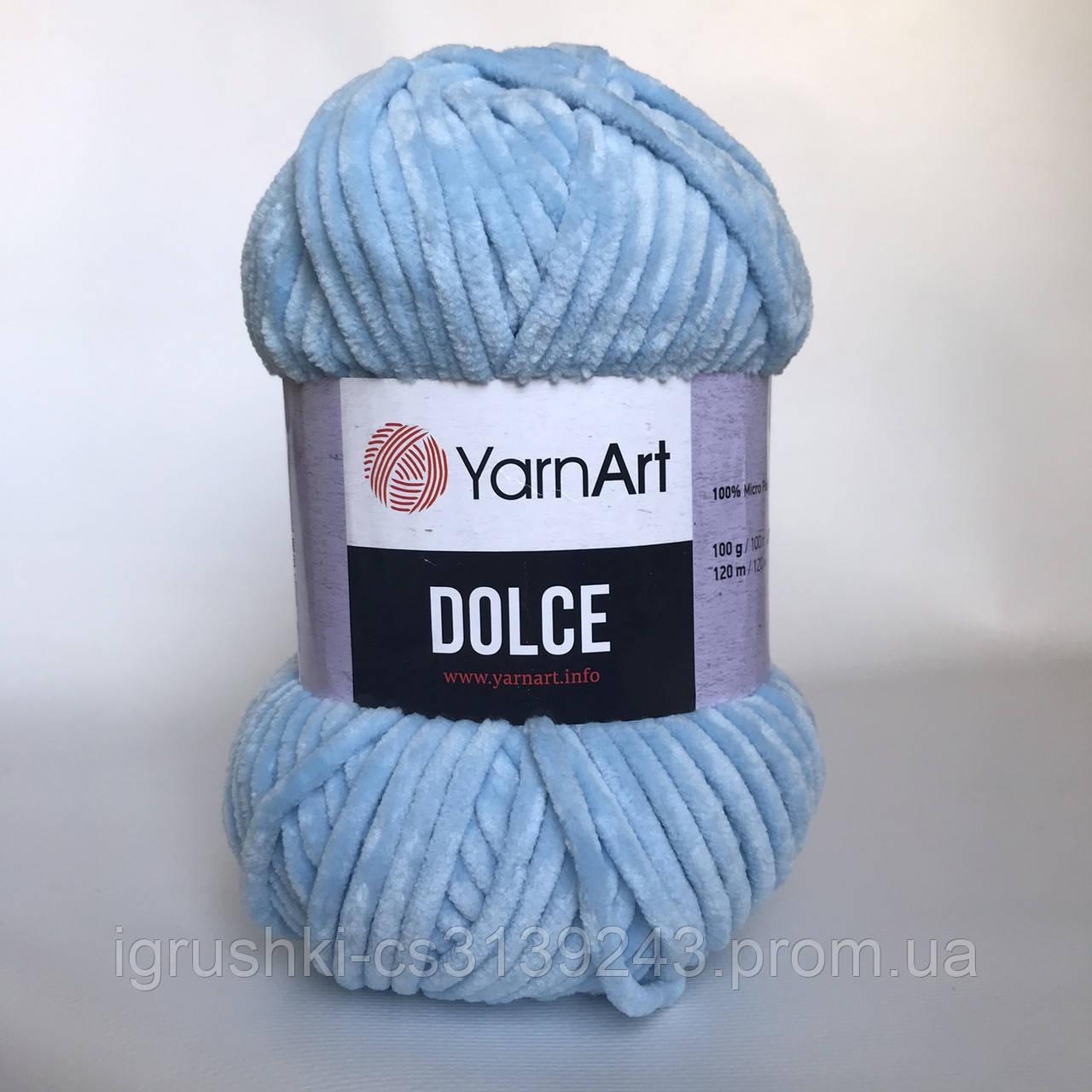 Плюшевая пряжа YarnArt Dolce 749 (ЯрнАрт Дольче) Голубой